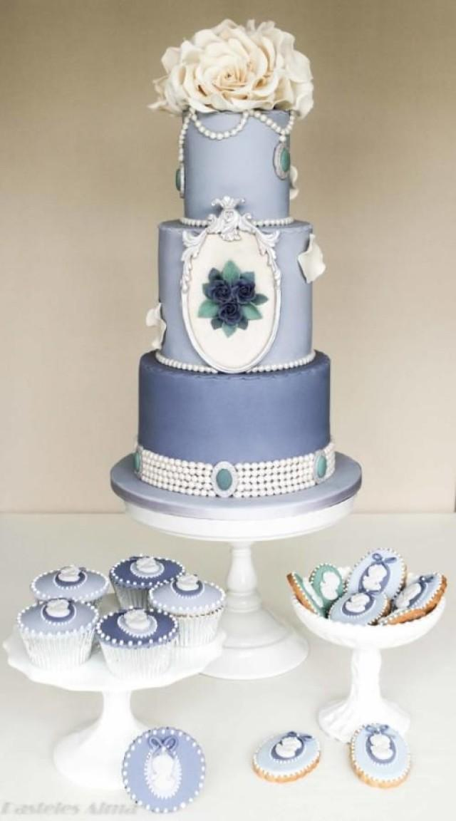 shabby chic wedding cake ideas shabby wedding shabby chic blue wedding cake 2055588 19767