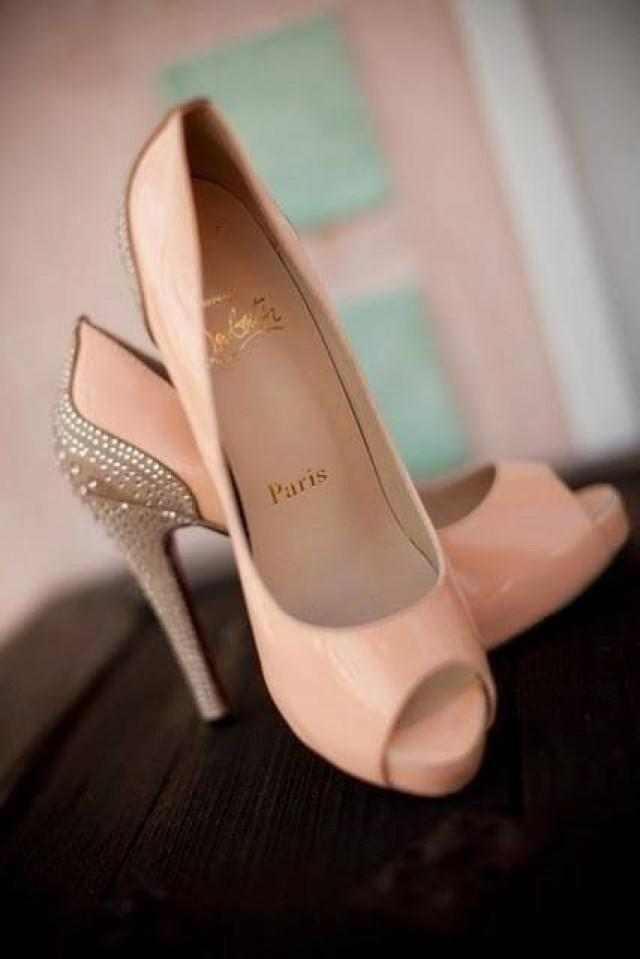 Blush Wedding Blush Colored Christian Louboutins 2057581 Weddbook