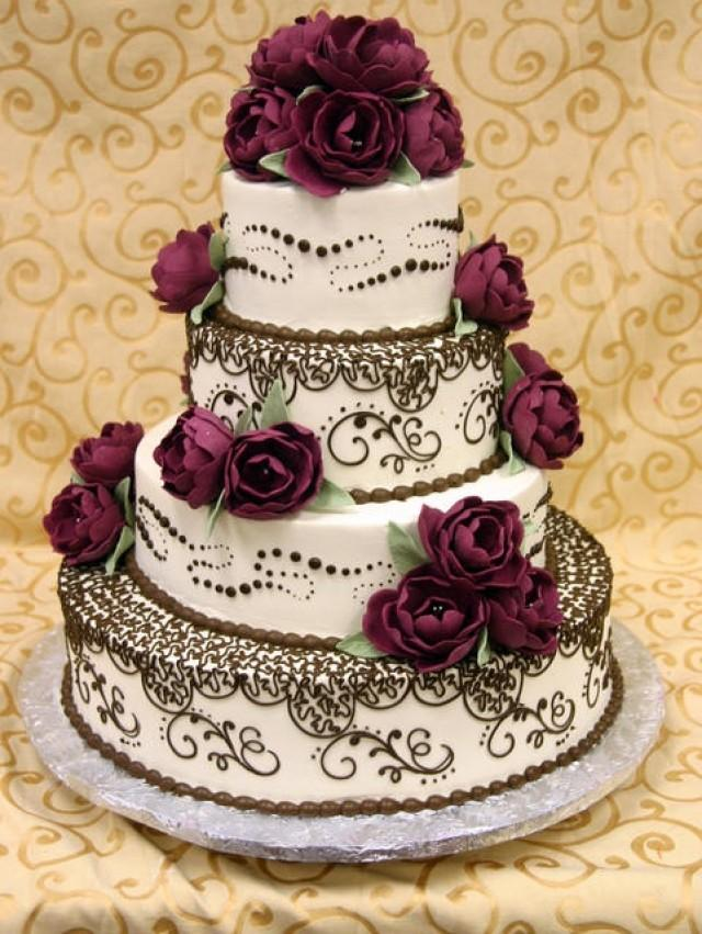 wedding cake ideas burgundy burgundy wedding wedding cake 2059225 weddbook 22906