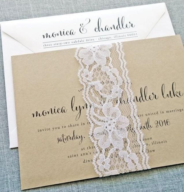 making wedding invitations calligraphy script recycled kraft wedding 5683