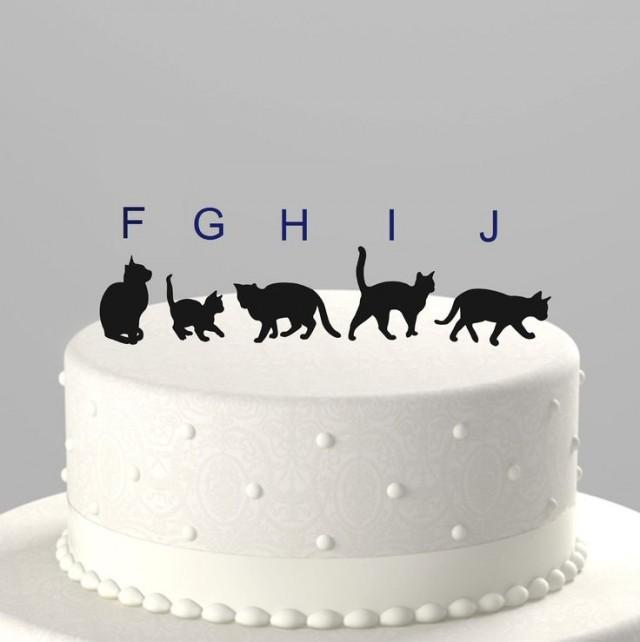 wedding cake topper with four cats add a pet cat cake topper silhouette acrylic cake 26662