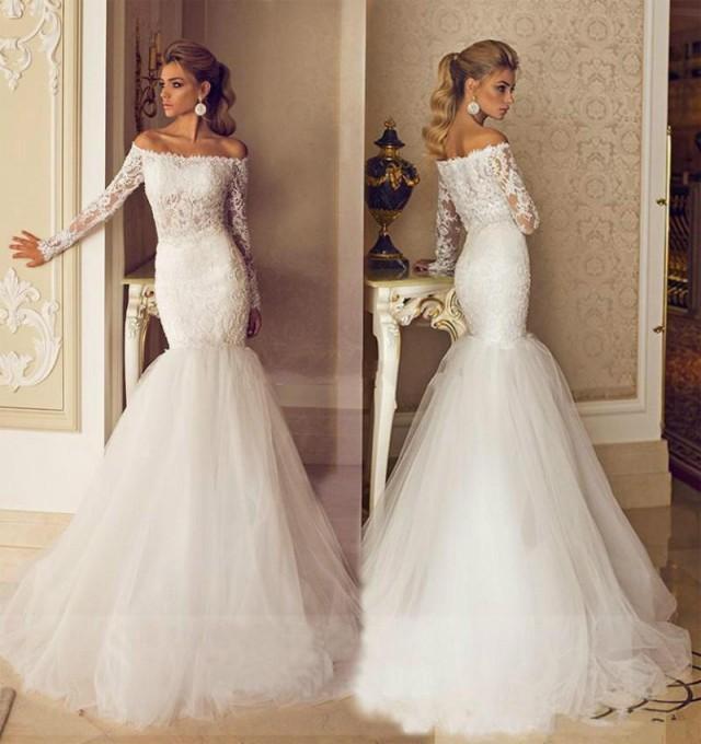 2017 Galia Lahav Wedding Dresses Bateau Neck Long Sleeve Illusion Modest Sheer Bridal Lace Tulle Chapel Train Lique Ball Gown 121 75 2213891