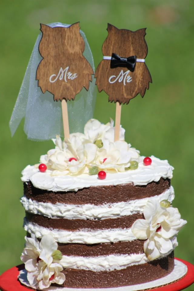 owl wedding cake owl wedding cake topper mr amp mrs rustic country chic 18099