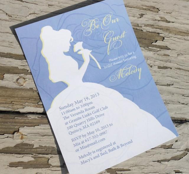 Disney Beauty And The Beast Belle Bridal Shower Invitation Custom Printable Pdf 2238978 Weddbook