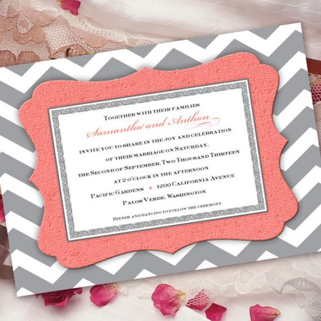 Gray Chevron Wedding Invitation And C Silver In259 2241499 Weddbook