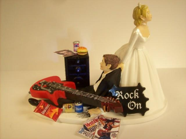 wedding cake toppers guitar groom no more rockin guitar wedding cake topper 26486