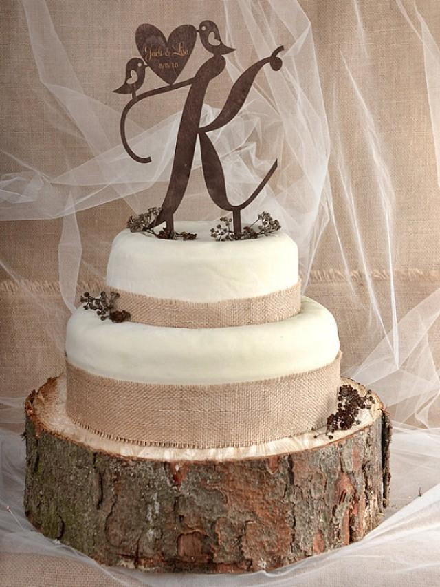wooden wedding cake toppers rustic cake topper wood cake topper monogram cake tpper 1488