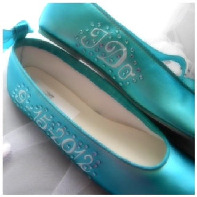tiffany blue wedding shoes wedding shoes blue ballerina flats personalized 8002
