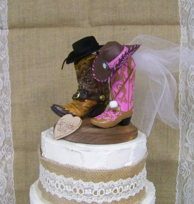 western wedding cake images rustic cake topper his and western cowboy boots 27027