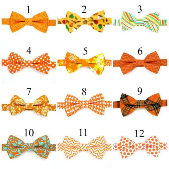 Baby Bow Tie Boys Men Wedding Ties Orange Ring Bearer Pre Tied 2253563 Weddbook