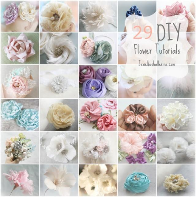 Paper Flower Tutorial Fabric Tutorials Feather All 29 40 Off Diy Wedding Crafts Bouquet Fascinator 2255775