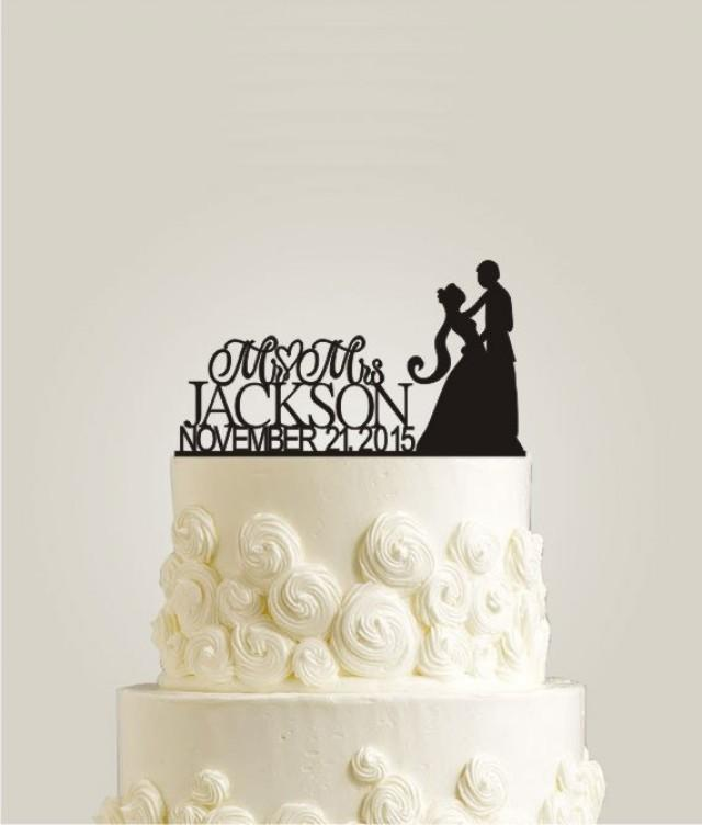 mr and mrs wedding cake topper mr and mrs wedding cake topper with date rustic cake 17629