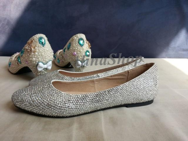 wedding shoes with bling flat wedding shoes open toe flat bridal shoes wedding 1138