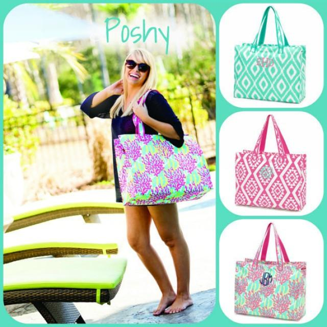 Personalized Beach Tote Pool Gift Bridesmaids Vacation Bag Ikat Aztec Reef 2283690 Weddbook