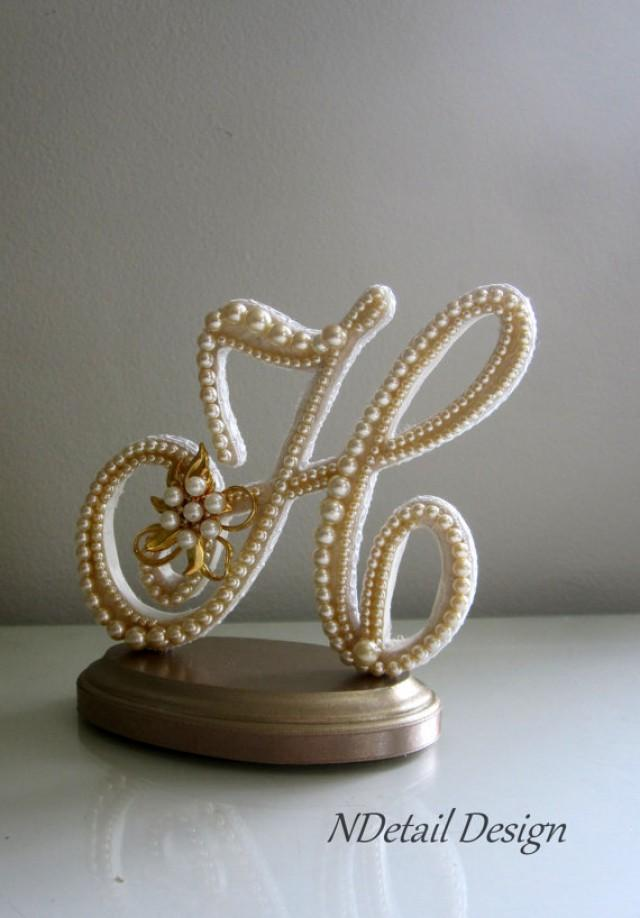 gold h wedding cake topper wedding cake topper quot ready to purchase quot monogram letter h 14786