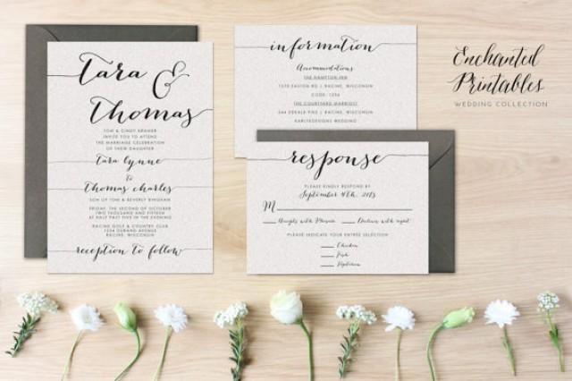 Diy Printable Wedding Invitation Set Suite With Invite Rsvp And Detail Card Simple Invites 2289587 Weddbook