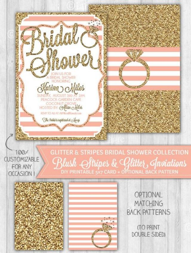 gold glitter wedding invitations blush pink amp gold glitter bridal shower invitation bridal 4534