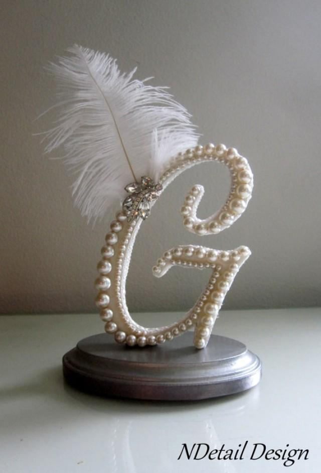 wedding cake topper letter g wedding cake topper custom letter g vintage ivory pearl 26348