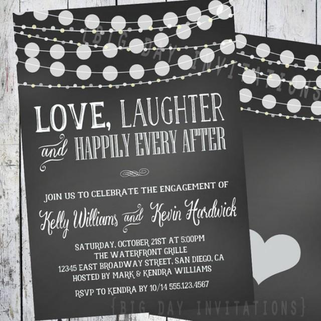Chalkboard Engagement Invitation Party Love Laughter Hily Every After 2319195 Weddbook