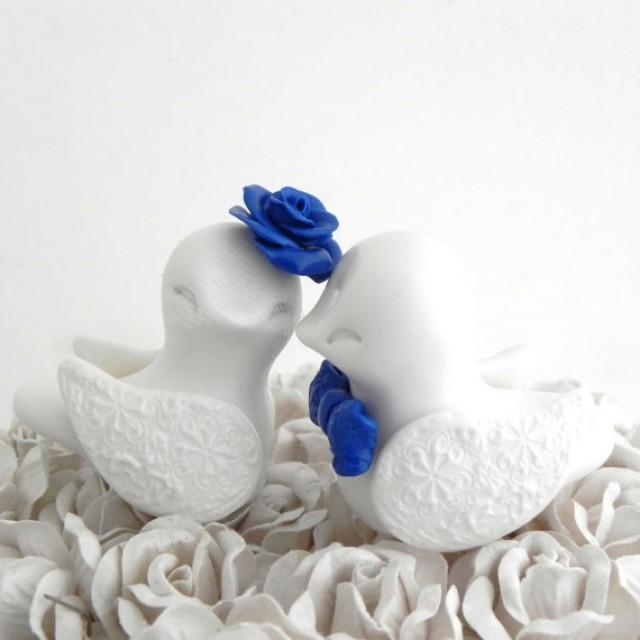 blue love birds wedding cake topper birds wedding cake topper white and royal blue 11994