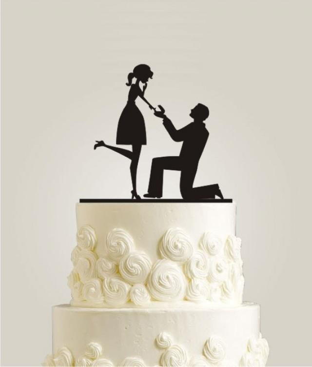 rustic couple wedding cake topper will you me cake topper day cake 19495