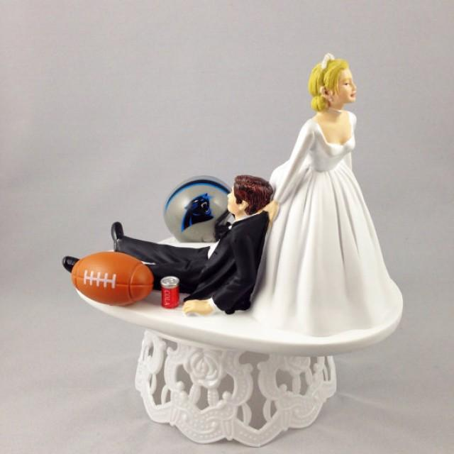 wedding cake toppers custom wedding cake topper football themed carolina 8819