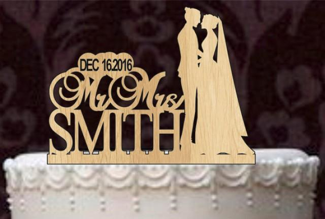 wedding cake topper name and date custom wedding cake topper monogram personsalized 26363