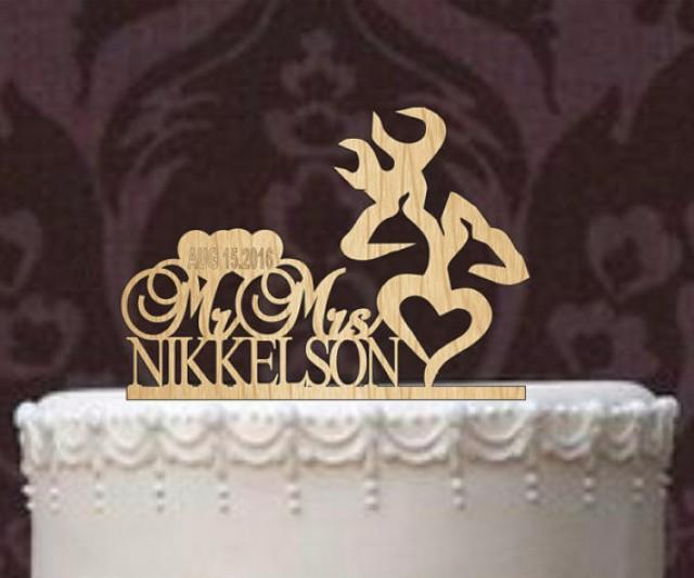 country wedding cake toppers deer wedding cake topper country wedding cake topper 3118