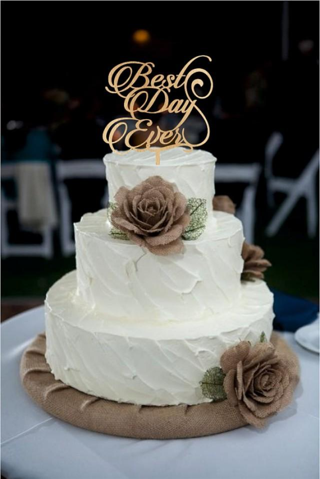 best wedding cake toppings best day wedding cake topper monogram wedding cake 11705
