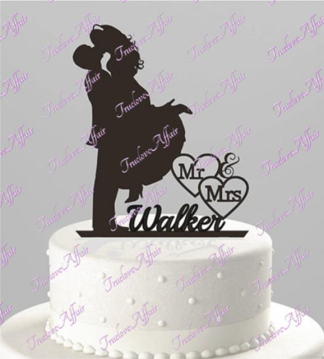 acrylic wedding cake toppers wedding cake topper groom lifting silhouette 1207