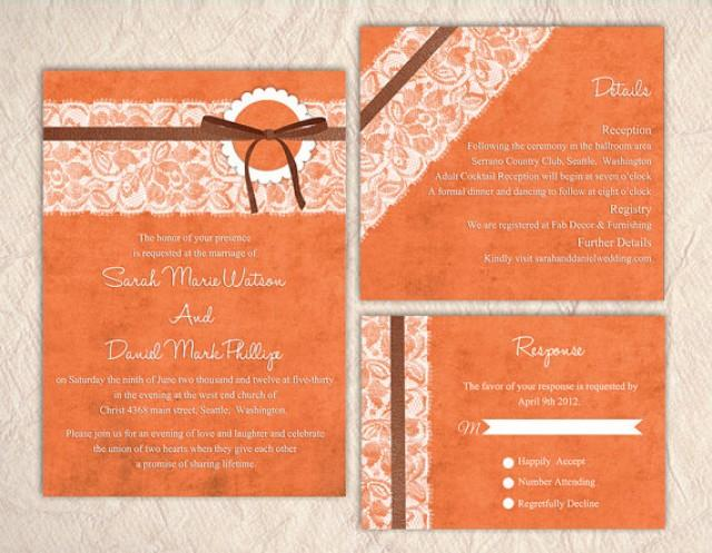 wedding invitations printing printable lace wedding invitation suite printable 9764