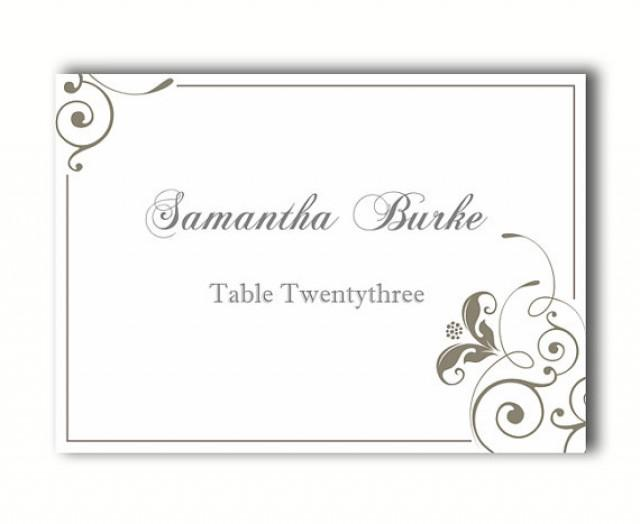 Place Cards Wedding Place Card Template DIY Editable ...