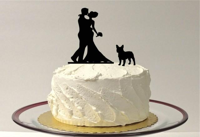 wedding cake topper two dogs with pet wedding cake topper silhouette wedding cake 26645