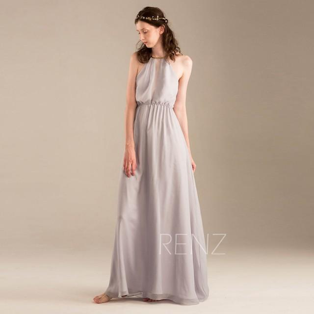 light gray wedding dress 2015 light grey halter bridesmaid dress gray wedding 5523
