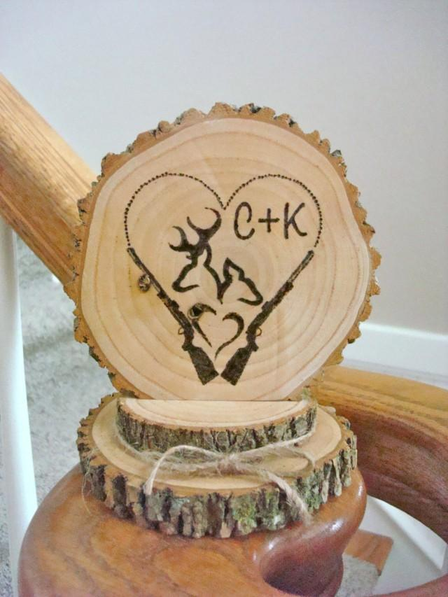 engraved wedding cake toppers rustic wedding cake topper personalized wood deer 14035