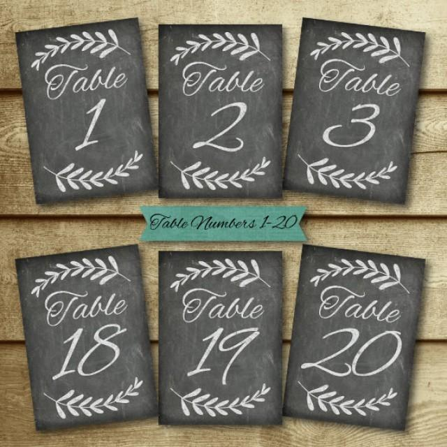 Chalkboard Wedding Table Number Set Signs Diy Printable Decor Chloe Collection Instant 2403551