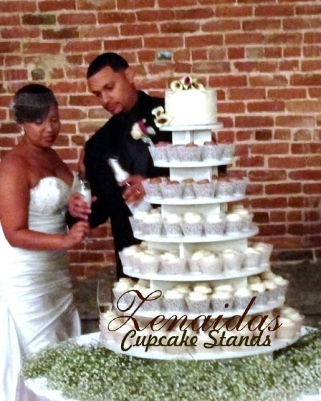 cupcake wedding cake stand ideas cupcake stand 7 tier 200 cupcakes threaded rod and 13187