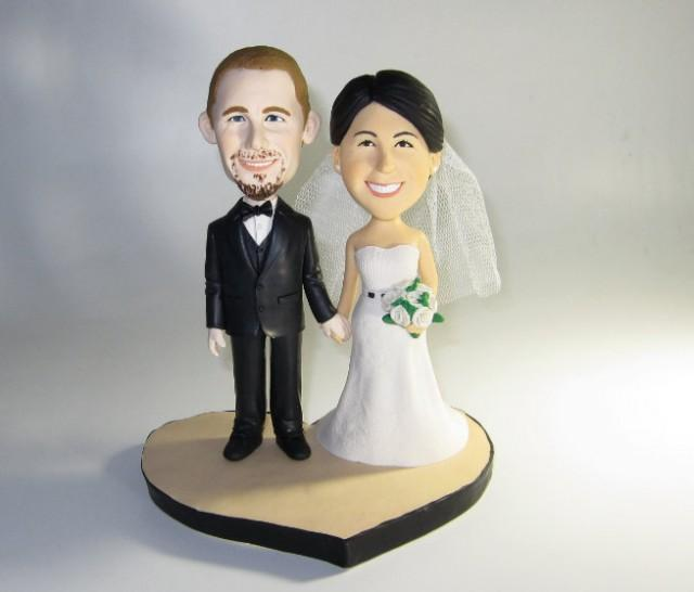 figurine wedding cake toppers unique wedding cake topper personalized customm polymer 4062