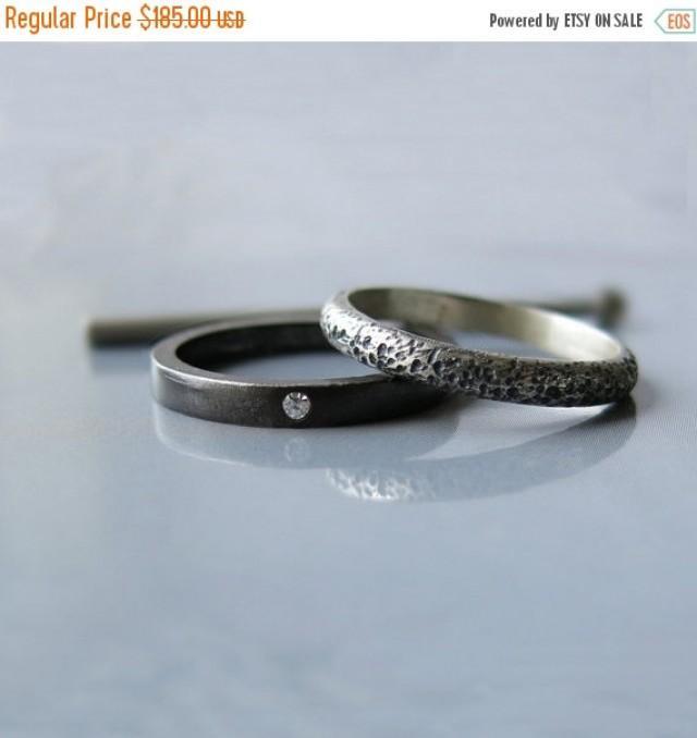 20 Modern Diamond Ring Engagement Alternative Wedding Set Oxidized Unique R 2432084