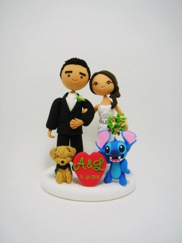 personalized wedding cake topper with dog custom wedding cake topper with the and 18289