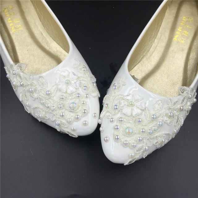 Flat Wedding Shoes Lace Bridal Ivory Flats Cream Off White Size 4 5 6 7 8 9 10 11 12 2440497 Weddbook