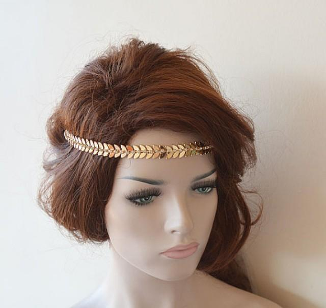 vintage style bridal hair accessories bridal gold rhinestone headband leaf wedding headband 4352