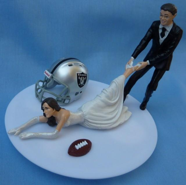 wedding cake toppers soccer wedding cake topper oakland raiders g football themed w 8839