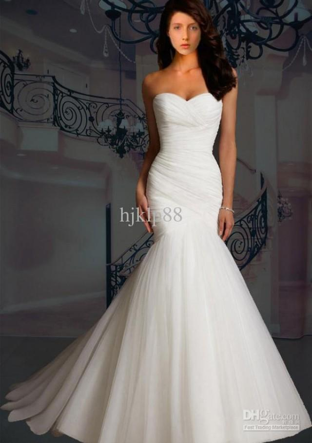 strapless mermaid wedding dresses custom made 2013 new sweetheart strapless mermaid 7720