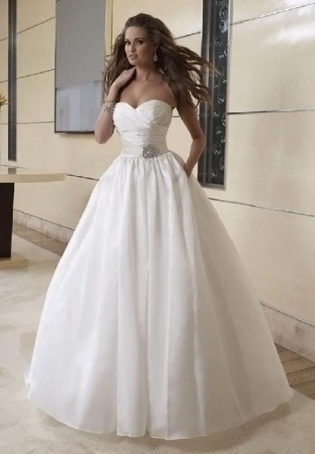 Pleated Taffeta Strapless Sweetheart Ball Gown 2 In 1 Wedding Dress 2443590 Weddbook