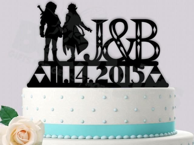 legend of zelda wedding cake topper link and gamer cake topper legend of wedding 16788