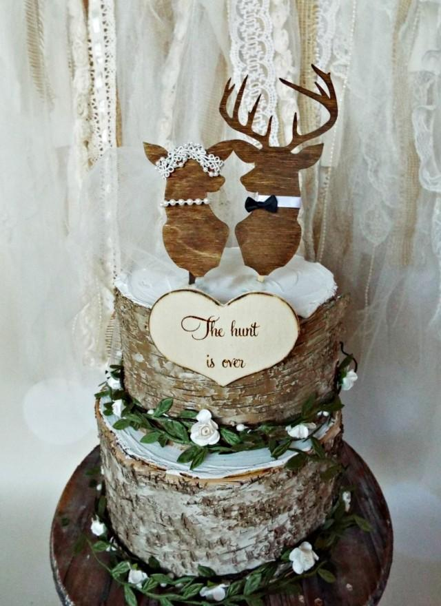 hunting themed wedding cake toppers deer wedding buck and doe wedding cake topper deer lover 16212