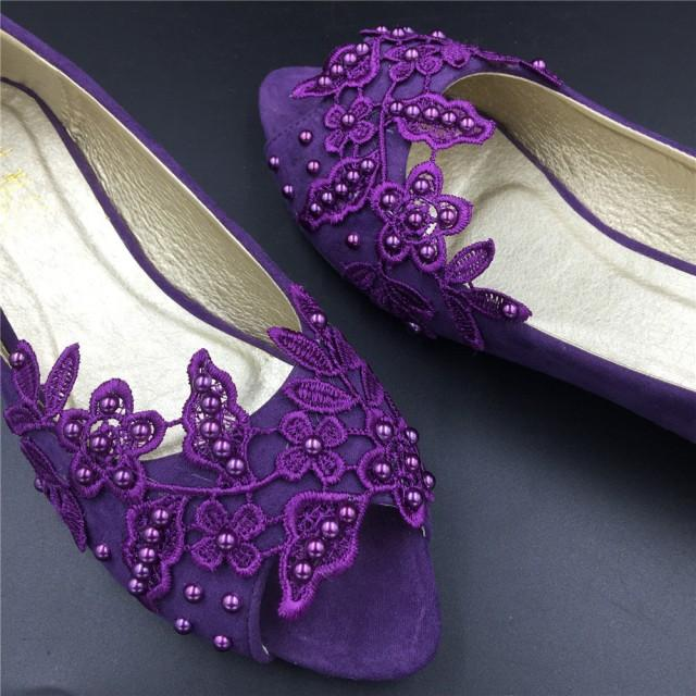 lavender wedding shoes purple peep toe crystals wedding shoes bridal ballet shoes 5424