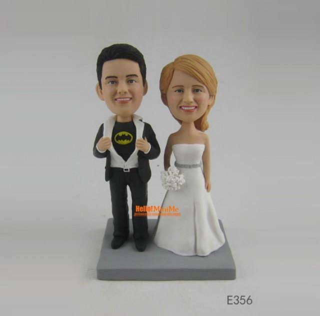 personalized bobblehead wedding cake toppers batman cake topper custom wedding cake toppers bobblehead 6475