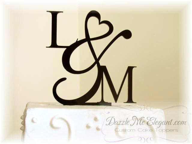 monogram letters wedding cake toppers wedding cake topper initials cake topper 5996